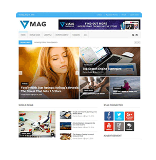 Free Magazine and Blog Themes
