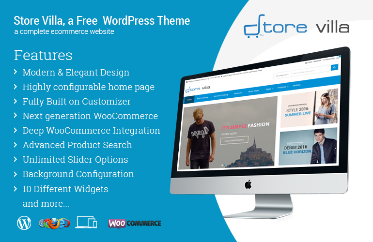 Best Free WordPress Store / WooCommerce Theme – Storevilla