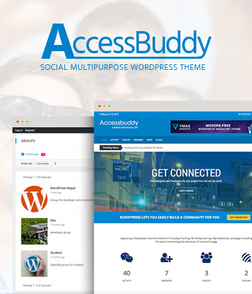 BuddyPress WordPress Theme – AccessBuddy