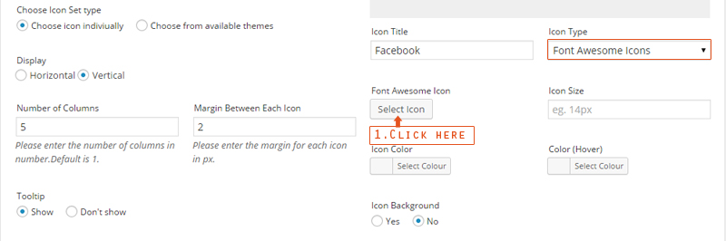Select Font Awesome Icon