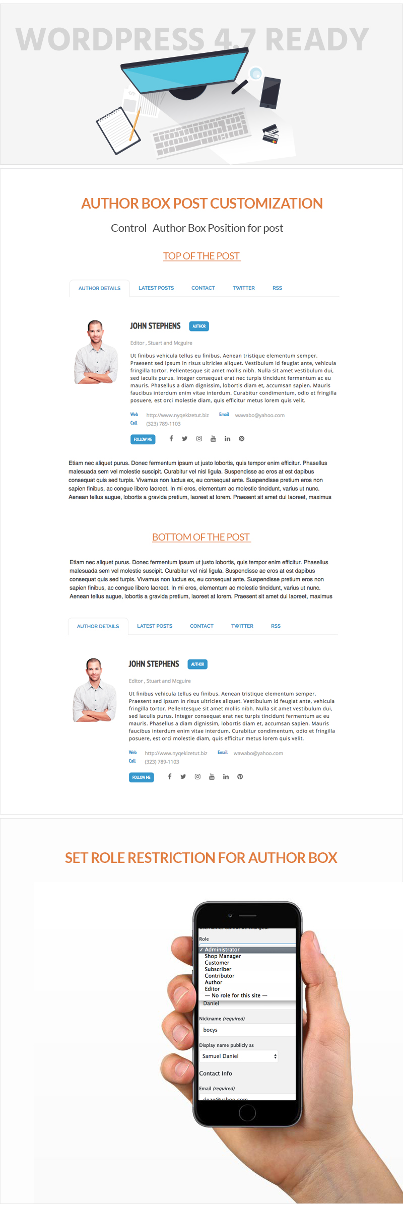 Responsive Post/Article Author Section Plugin for WordPress – Ultimate Author Box