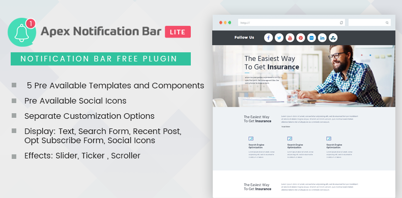 Responsive Notification Bar Plugin for WordPress – Apex Notification Bar Lite