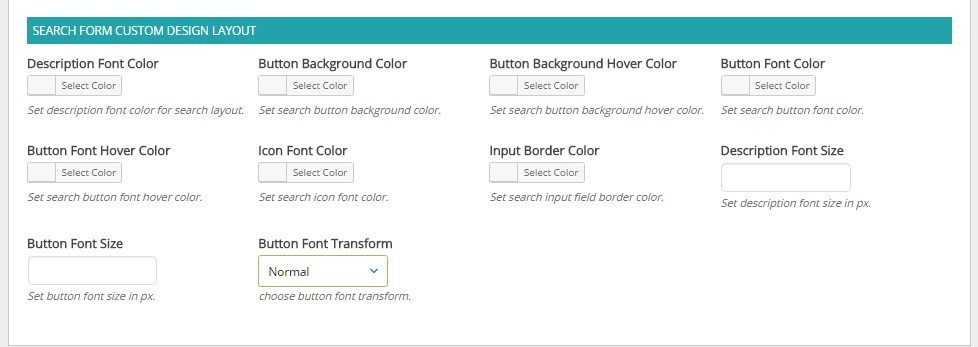 Apex notification bar Search Form Settings For Custom Design