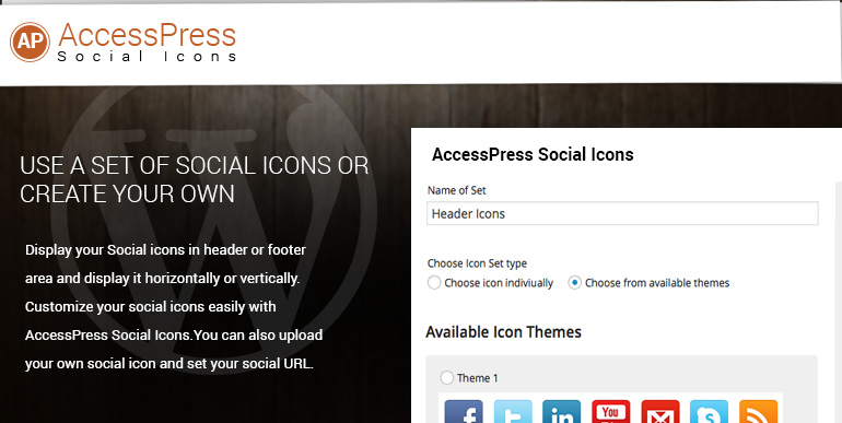 Free WordPress Social Icons Plugin – AccessPress Social Icons