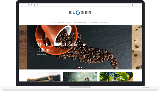 #1 Free WordPress Blogging Theme – Bloger