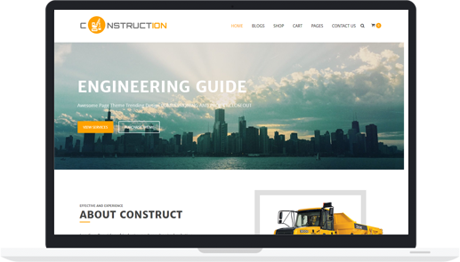 Free WordPress Theme for Construction, Building, Architect