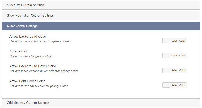 WP Media Manager Custom Gallery Settings