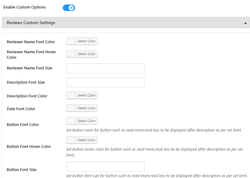 Everest GPlaces Business Reviews - Custom Reviews Settings