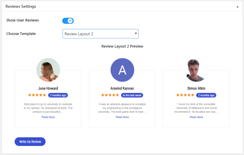 Everest GPlaces Business Reviews - Reviews Settings