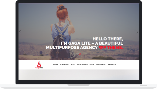 One Page Premium WordPress Theme – Gaga Pro