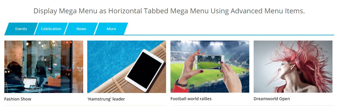 WP Mega Menu Pro Advanced Menu Item Horizontal Settings