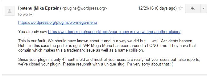 WP Mega Menu Plugin by AccessPress Themes is no more in WordPress.org