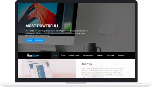 Premium WordPress Multipurpose Theme – The Monday Pro