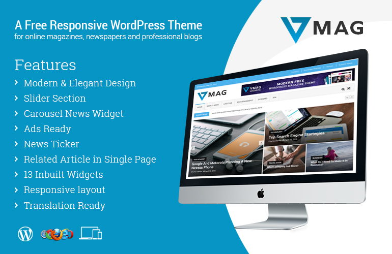 #1 Free WordPress Magazine Theme 2016 – VMag