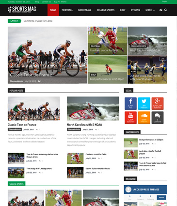 Free WordPress Magazine Theme - SportsMag