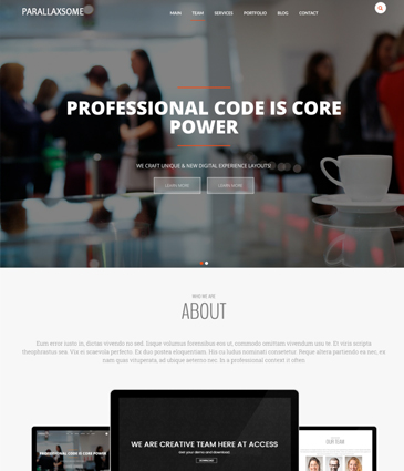 #1 One page WordPress theme with Parallax scrolling - ParallaxSome