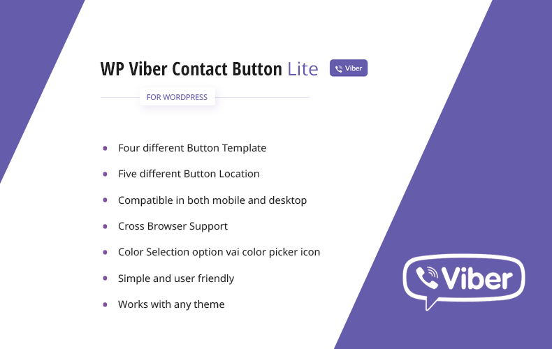 WP Viber Contact Button Lite