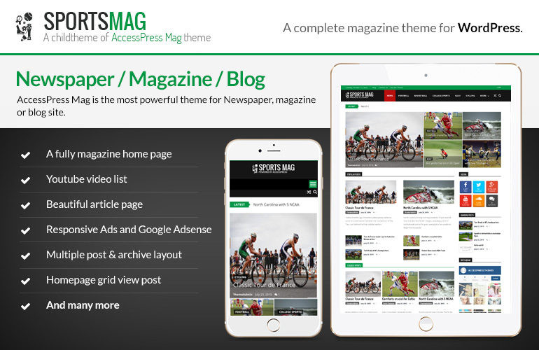 Free WordPress Magazine Theme – SportsMag