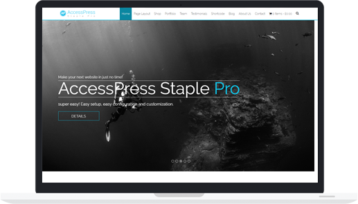 Premium WordPress Multipurpose Theme – AccessPress Staple Pro