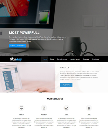 Premium WordPress Multipurpose Theme - The Monday Pro