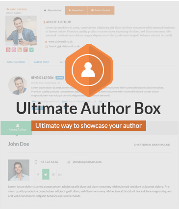 Responsive Post/Article Author Section Plugin for WordPress - Ultimate Author Box
