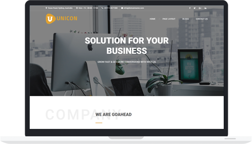 Multipurpose Premium WordPress Business Theme – Unicon Pro