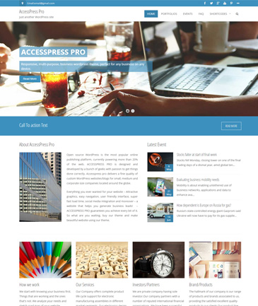 Premium WordPress Business Theme – AccessPress Pro