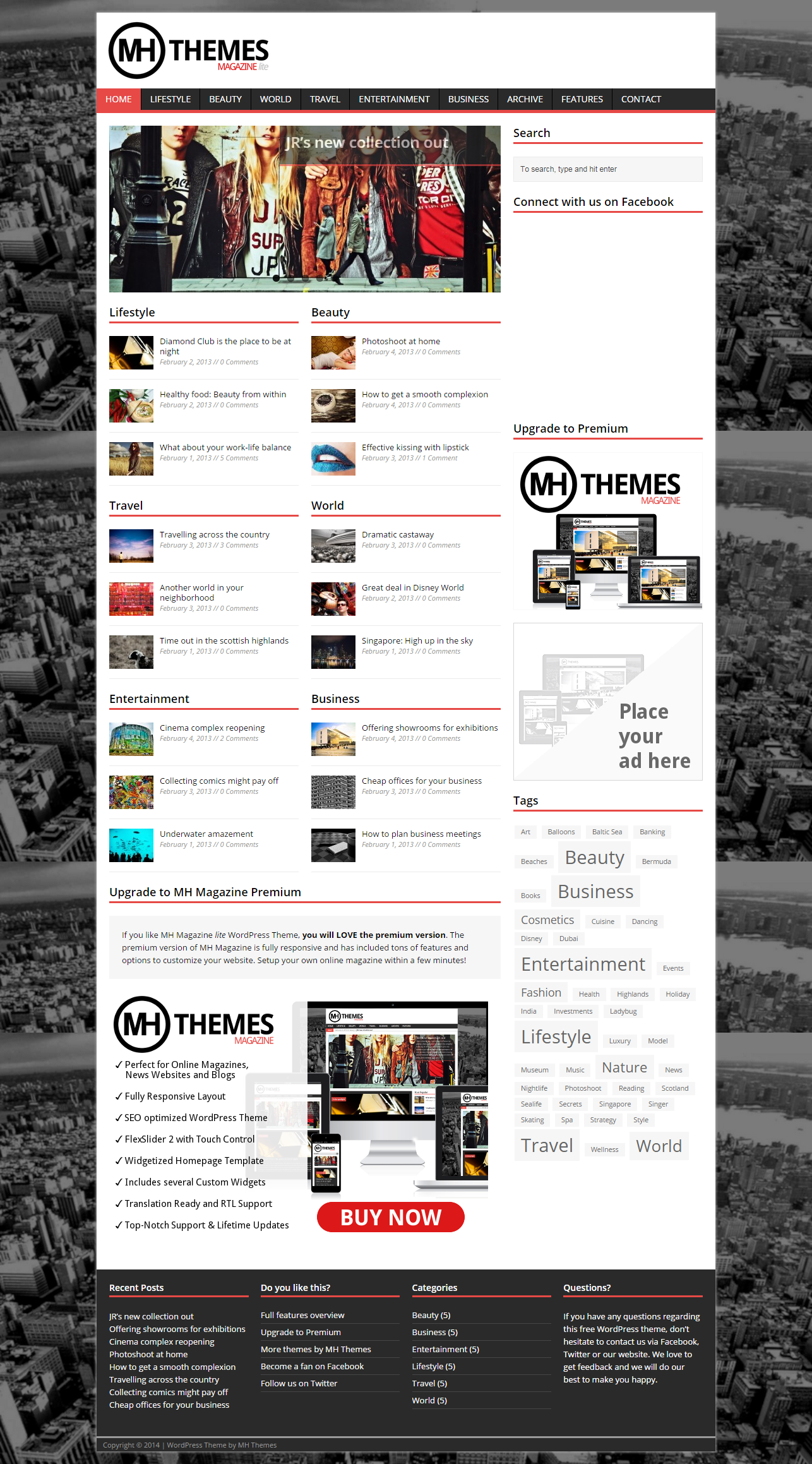 Top 10 Free WordPress Themes September, 2014