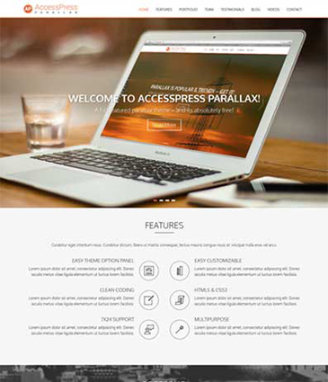 Free parallax / one page WordPress Theme – AccessPress Parallax 3.0