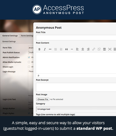 WordPress Frontend Post Plugin – AccessPress Anonymous Post