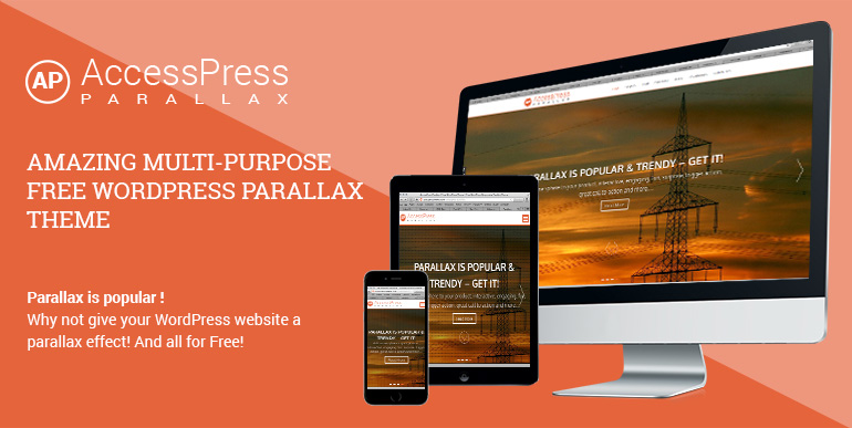 parallax one page wordpress free theme accesspress parallax