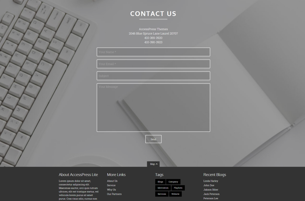 Contact us-section