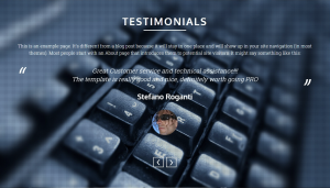 Testimonials section