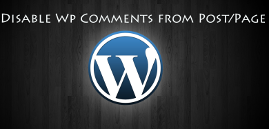 How to disable WP comments from post/page?