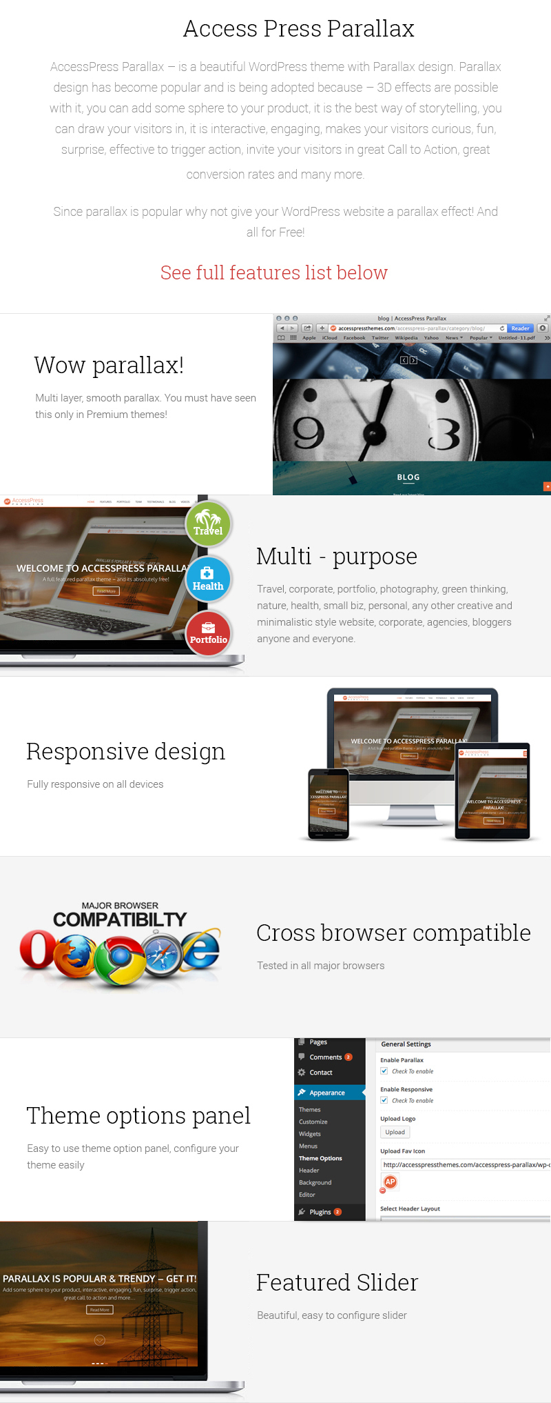 Parallax / One page WordPress Free Theme – AccessPress Parallax
