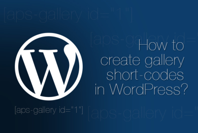 How to create gallery short-codes in WordPress?