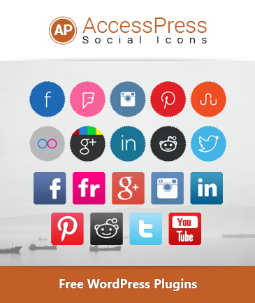 Free WordPress Social Icons Plugin - AccessPress Social Icons