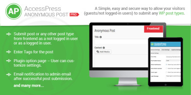 AccessPress Anonymous Post Pro - Premium WordPress Plugin