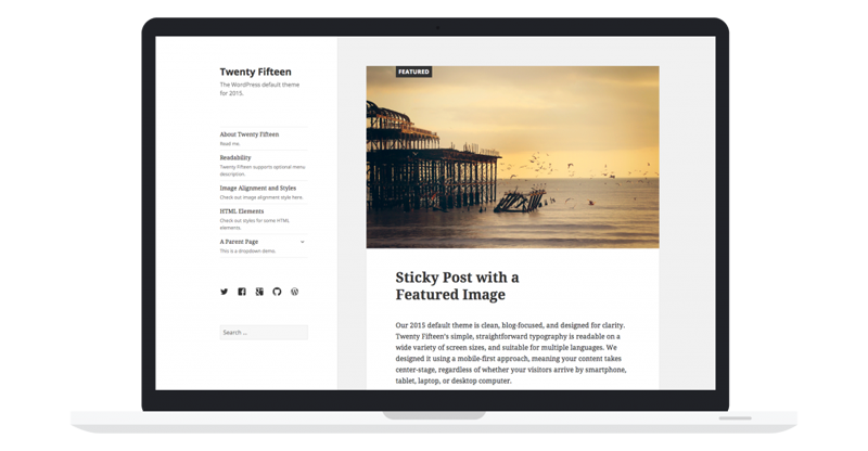 2014 wordpress default theme