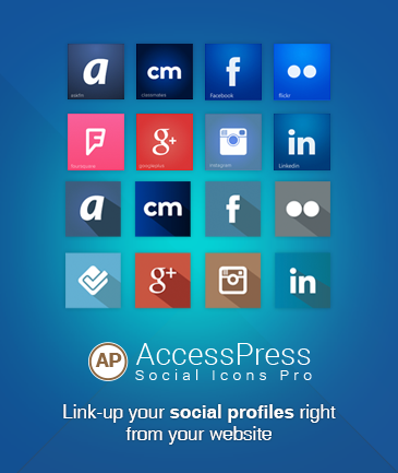 WordPress Social Icons Plugin - AccessPress Social Icons Pro