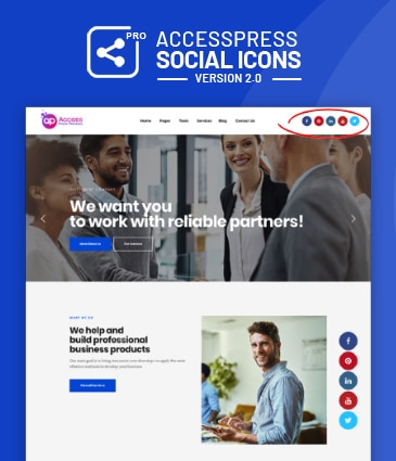 Link-up with your social profiles – AccessPress Social Icons Pro