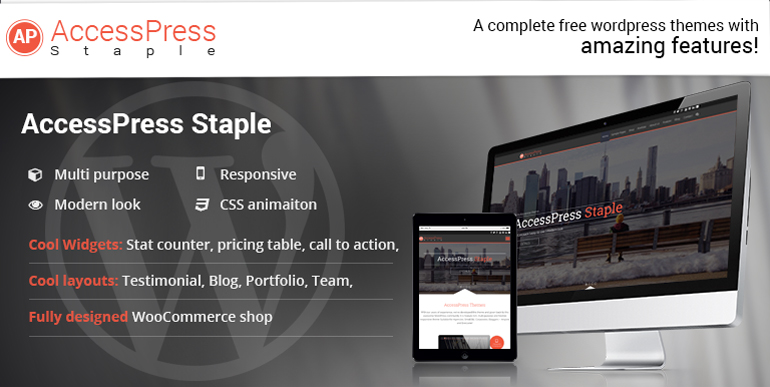 Multipurpose WordPress Theme – AccessPress Staple