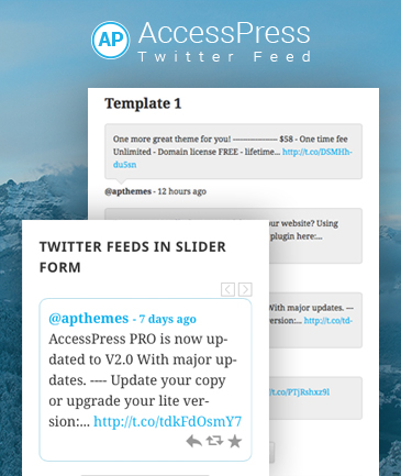 WordPress Twitter Feed Plugin – AccessPress Twitter Feed