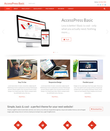 Free WordPress Business Theme - AccessPress Basic