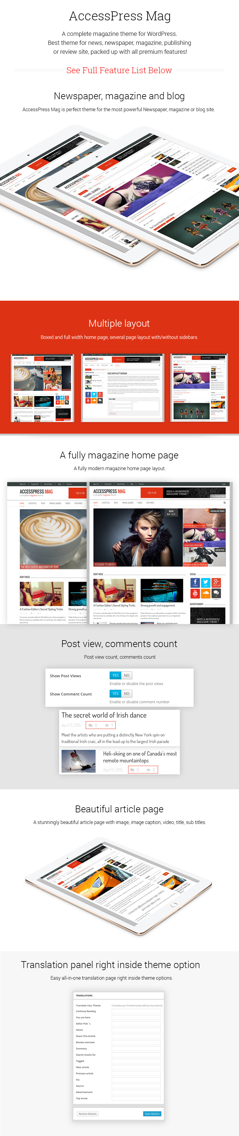 Best Free WordPress Magazine Theme – AccessPress Mag