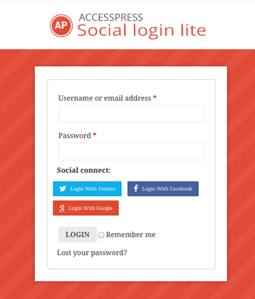 Free WordPress Social Login Plugin - AccessPress Social Login Lite