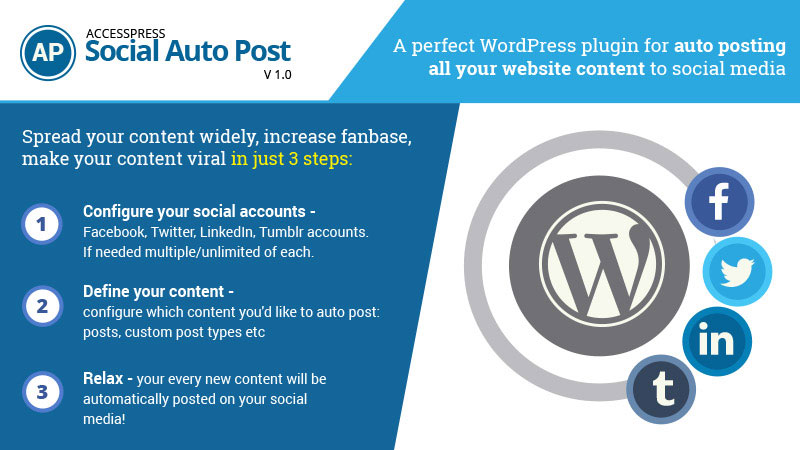 Auto posting to social media is now even easy with AccessPress Social Auto Post!