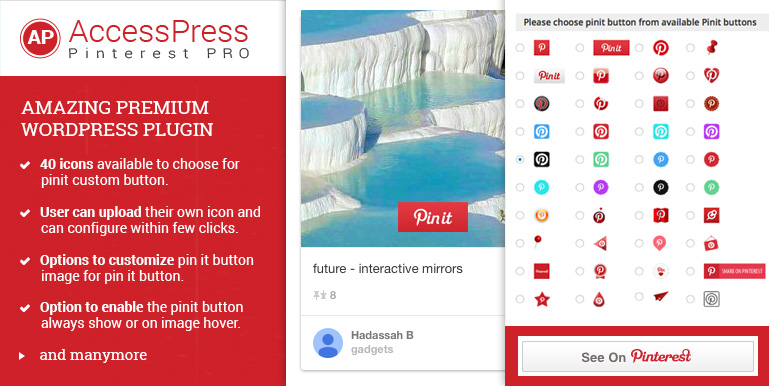 Need a perfect Pinterest Plugin? Get AP Pinterest Pro