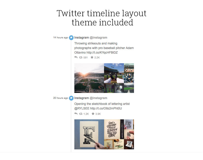 Twitter-timeline-layout-included