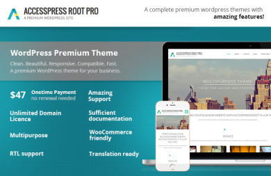 A complete multi-purpose premium WordPress theme- AccessPress Root Pro